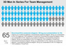 3d Men In Series For Team Management Flat Powerpoint Design