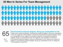 3d_men_in_series_for_team_management_flat_powerpoint_design_Slide01