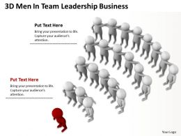 3D Men In Team Leadership Business Ppt Graphic Icon