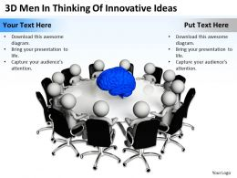 3D Men In Thinking Of Innovative Ideas Ppt Graphics Icons Powerpoint