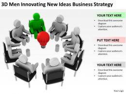 3D Men Innovating New Ideas Business Strategy Ppt Graphics Icons Powerpoint