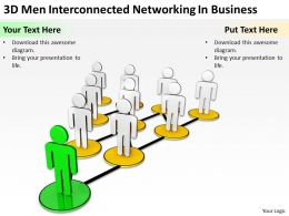 3D men Interconnected networking in Business Ppt Graphics Icons