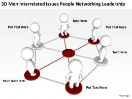 3D men interrelated issues People Networking Leadership Ppt Graphics Icons