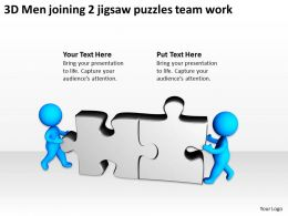 3d_men_joining_2_jigsaw_puzzles_team_work_ppt_graphics_icons_Slide01