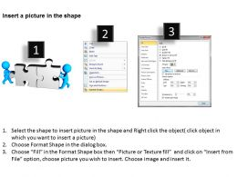 3D Men joining 2 jigsaw puzzles team work Ppt Graphics Icons
