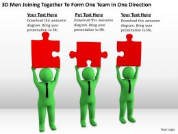 3D Men Joining Together To Form One Team In One Direction Ppt Graphics Icons Powerpoint