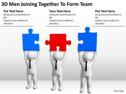 3D Men Joining Together To Form Team Ppt Graphics Icons Powerpoint