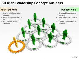 3D Men Leadership Concept Business Ppt Graphics Icons