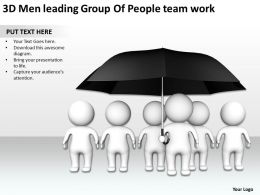 3D Men leading Group Of People team work Ppt Graphic Icon