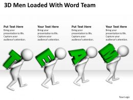 3D Men Loaded With Word Team Ppt Graphics Icons Powerpoint