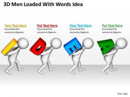 3D Men Loaded With Words Idea Ppt Graphics Icons Powerpoint