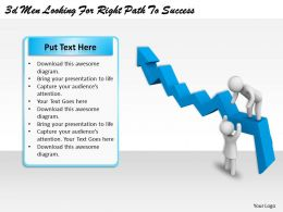 3d Men Looking For Right Path To Success Ppt Graphics Icons Powerpoint