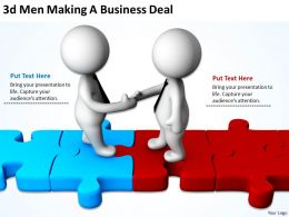 3D Men Making A Business Deal Ppt Graphics Icons