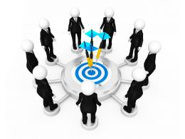 3d Men Networking Concept With Target Stock Photo
