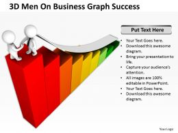 3D Men On Business Graph Success Ppt Graphics Icons Powerpoint