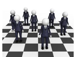 3d Men On Chess Graphic Stock Photo
