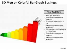 3D Men On Colorful Bar Graph Business Ppt Graphics Icons Powerpoint