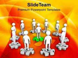 3d Men On Puzzle Meeting Success PowerPoint Templates PPT Themes And Graphics 0213