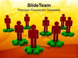 3d Men On Puzzles Business Concept Powerpoint Templates Ppt Themes And Graphics