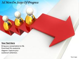 3d Men On Steps Of Progress Ppt Graphics Icons Powerpoint