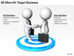 3D Men On Target Business Ppt Graphics Icons