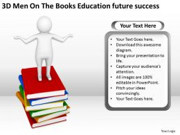 3D Men On The Books Education future success Ppt Graphic Icon