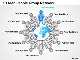 3D Men People Group Network Ppt Graphics Icons