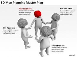 3D Men Planning Master Plan Ppt Graphics Icons Powerpoint