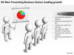 3D Men Presenting Business factors leading growth Ppt Graphic Icon