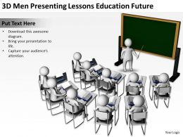3D Men Presenting Lessons Education Future Ppt Graphics Icons