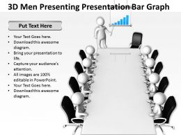3D Men presenting presentation bar graph Ppt Graphics Icons Powerpoint
