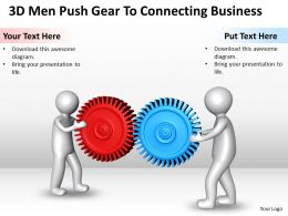 3D Men Push Gear To Connecting Business Ppt Graphics Icons