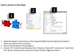 3D Men putting 2 jigsaw puzzles together strategy Ppt Graphics Icons