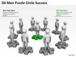 3D Men Puzzle Circle Success Ppt Graphics Icons