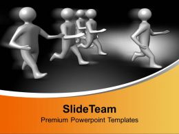 3d Men Running Competition PowerPoint Templates PPT Themes And Graphics 0113