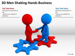 3D Men Shaking Hands Business Ppt Graphics Icons Powerpoint