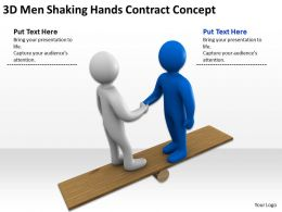 3D Men Shaking Hands Contract Concept Ppt Graphics Icons Powerpoint