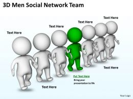 3D Men Social Network Team Ppt Graphics Icons