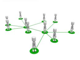 3D Men Social Team Networking Stock Photo