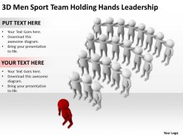 3D Men Sport Team Holding Hands Leadership Ppt Graphics Icons Powerpoint