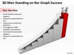 3d_men_standing_on_bar_graph_success_ppt_graphics_icons_powerpoint_Slide01