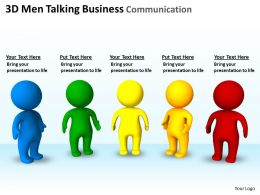 3D Men Talking Business Communication Ppt Graphics Icons