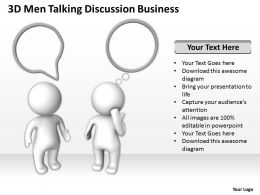 3D Men Talking Discussion Business Ppt Graphic Icon