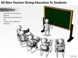 3D Men Teacher Giving Education To Students Ppt Graphics Icons