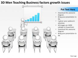 3D Men Teaching Business factors growth issues Ppt Graphic Icon