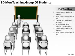 3D Men Teaching Group Of Students Ppt Graphics Icons