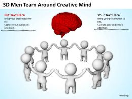 3D Men Team Around Creative Mind Ppt Graphics Icons Powerpoint