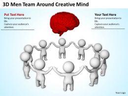 3D Men Team Around Creative Mind Ppt Graphics Icons Powerpoint