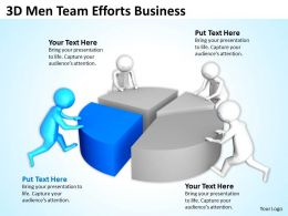 3D Men Team Efforts Business Ppt Graphics Icons Powerpoint
