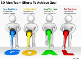 3D Men Team Efforts To Achieve Goal Ppt Graphics Icons Powerpoint
